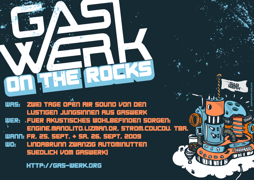 Flyer Gaswerk on th rocks